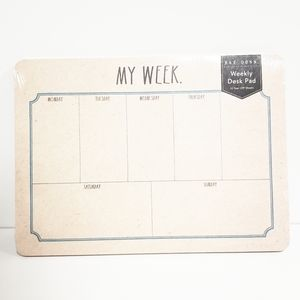 RAE DUNN Weekly Desk Pad 52 Sheets